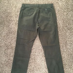 Army green cotton chino